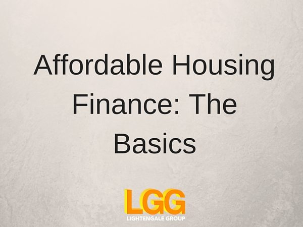 Affordable Housing Finance: The Basics
