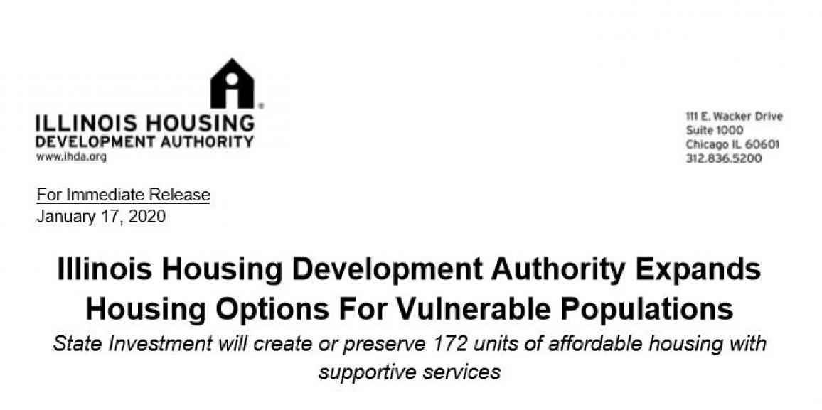 IHDA Invest in Housing with Supportive Services