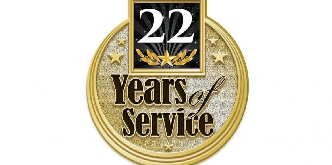 Celebrating 22 Years of Service!
